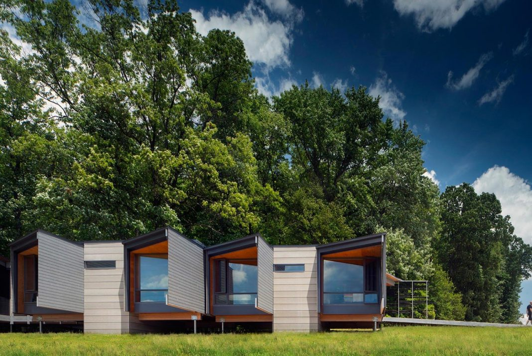 Bohlin Cywinski Jackson has designed 4 new dwellings for Fallingwater Institute's summer residency programs