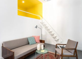Chic 3in1 apartment designed with a touch of vivid colours by batlab architects
