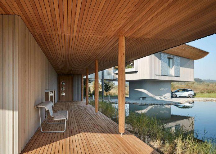 Eco wooden stylish home in Erkheim Germany designed by Alfredo