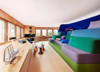 Eco wooden stylish home in Erkheim, Germany designed by Alfredo Häberli