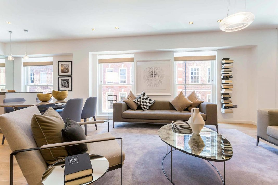 apartment inside. Inside a contemporary newly refurbished apartment in the heart of London