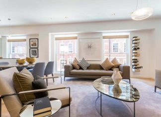 Inside a contemporary newly refurbished apartment in the heart of London