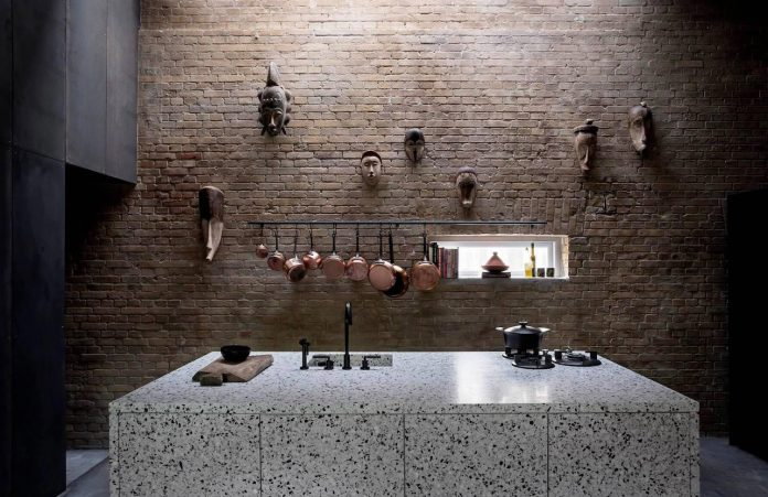 Inspiration evolved from worn-out warehouses and factories with their blackened steel and old bricks