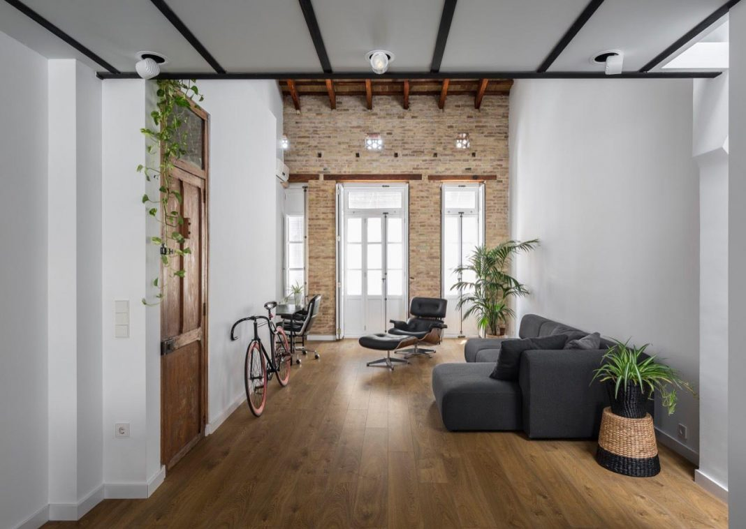 loft renovation with the fundamental work based on removing and