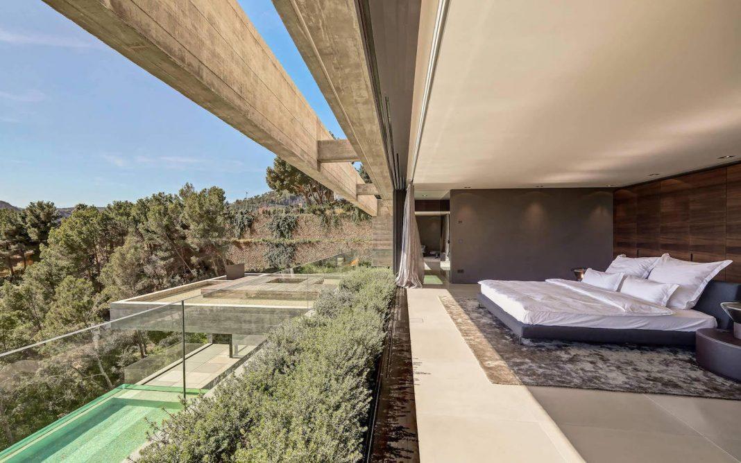 Modern two-storey Boscana villa in Son Vida, Mallorca features great panoramic views