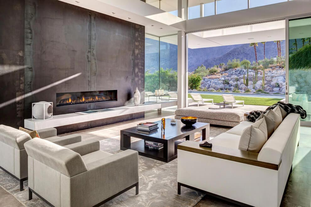 One story modern Palm Springs open house by Cioffi Architect