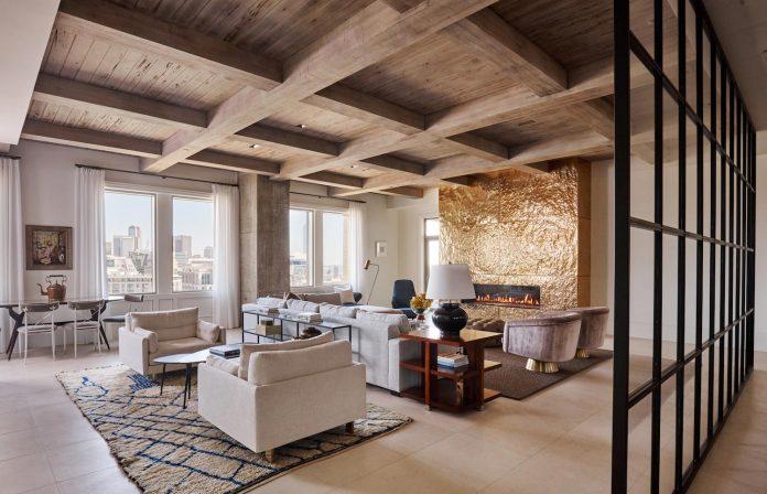 R brant design has designed the luxurious stoneleigh apartment in dallas texas caandesign for Texas leather interiors dallas
