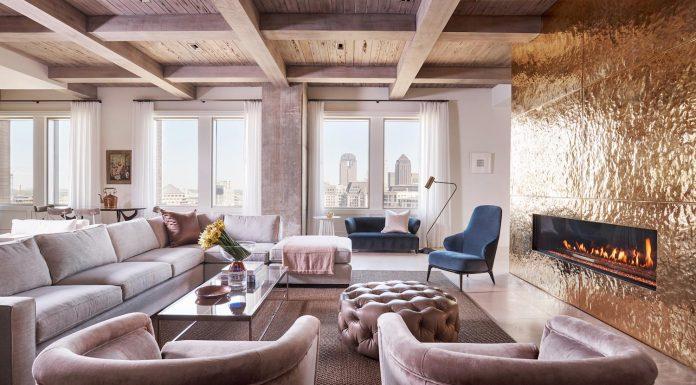 R Brant Design has designed the luxurious Stoneleigh apartment in Dallas, Texas