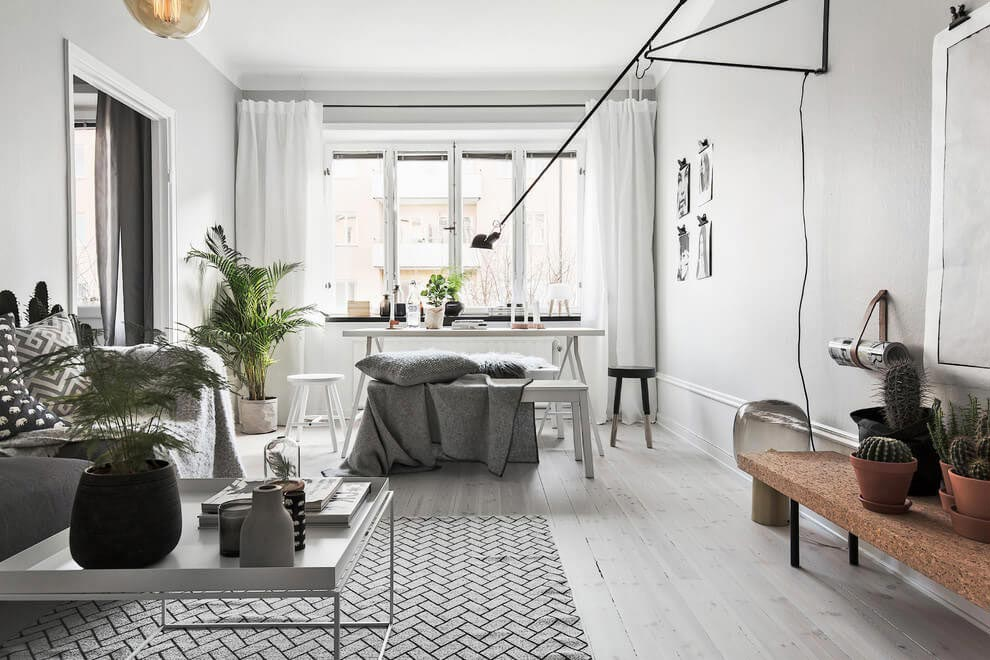 Scandinavian Homes design a chic apartment in Stockholm, Sweden