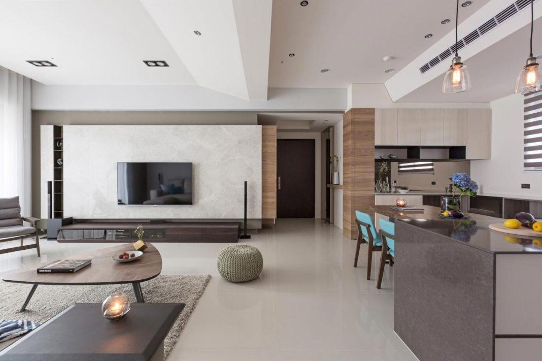 Simple and elegant apartment in Taipei by HOZO interior design ...