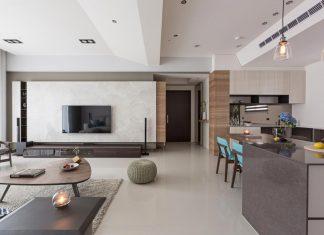 Simple and elegant apartment in Taipei by HOZO interior design