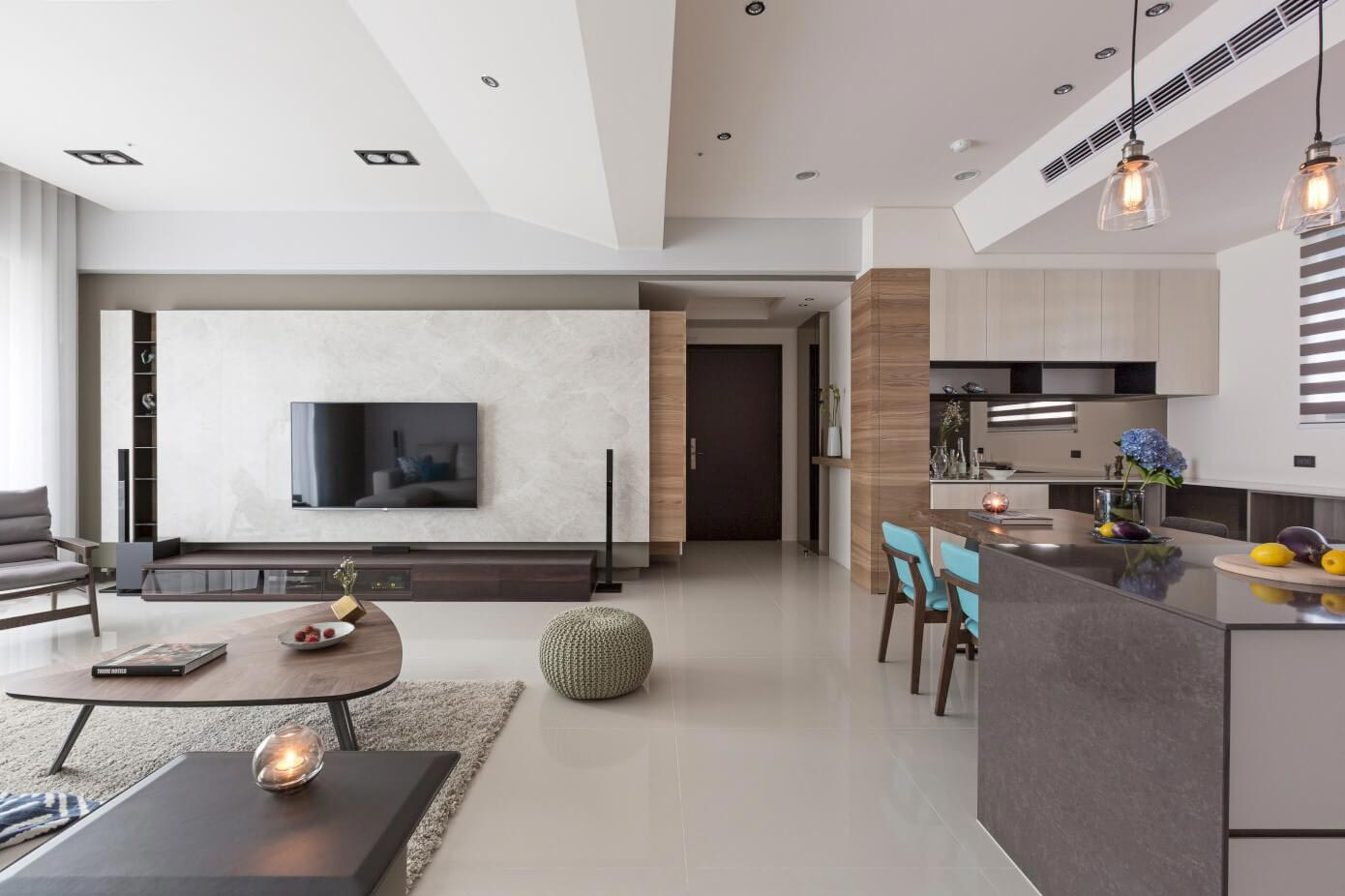 Simple and elegant apartment in Taipei by HOZO interior design - CAANdesign  Architecture and