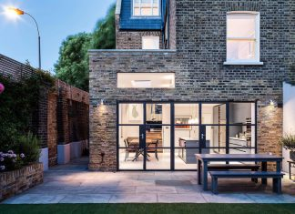 Slot House by AU Architects remodels a London end of-terrace house