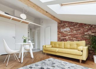 Sophia contemporary attic apartment designed by Blackhaus in Kraków