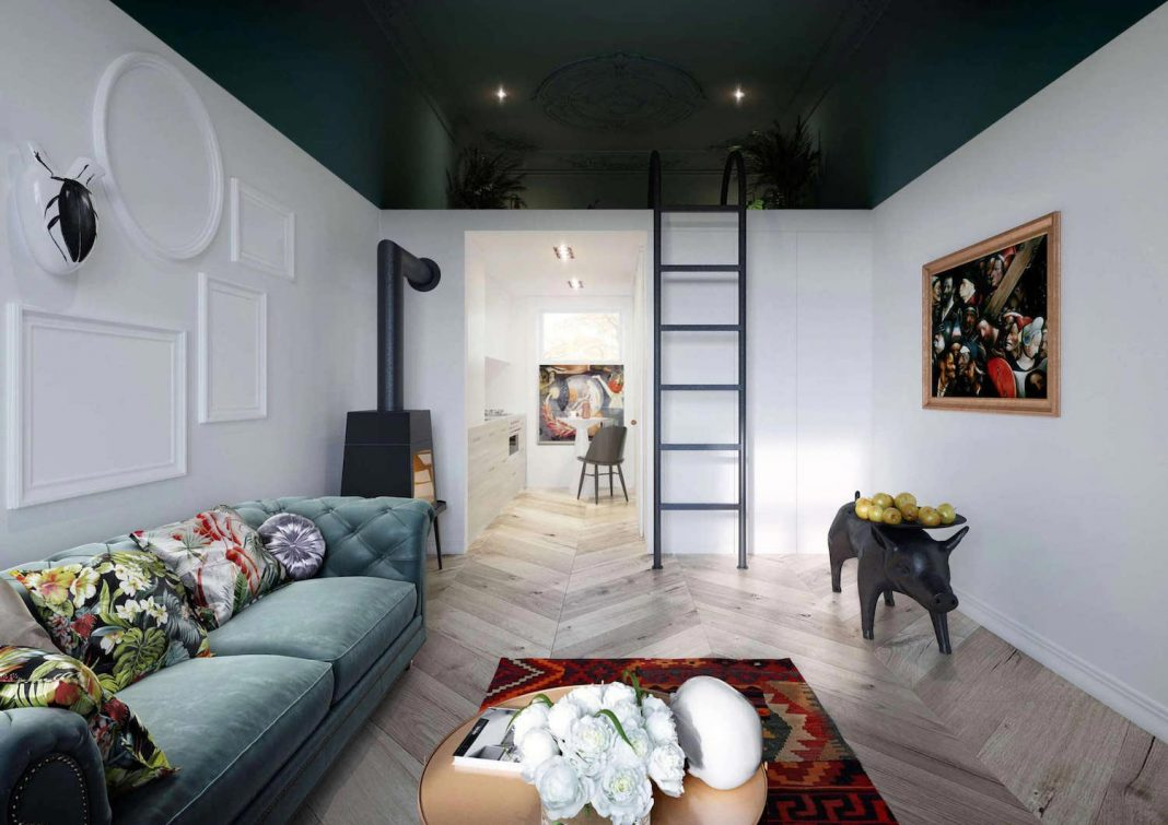 Stylish apartment of less than 30 square meters in an historic district of lublin by interiors - Interior design onsquare meters solutions from taiwan ...