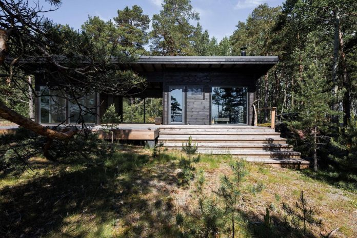 summer house on the unique rocky land on the baltic sea