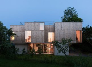 Villa Holtet project creates an inner landscape and a natural quality to the enjoyment of residents