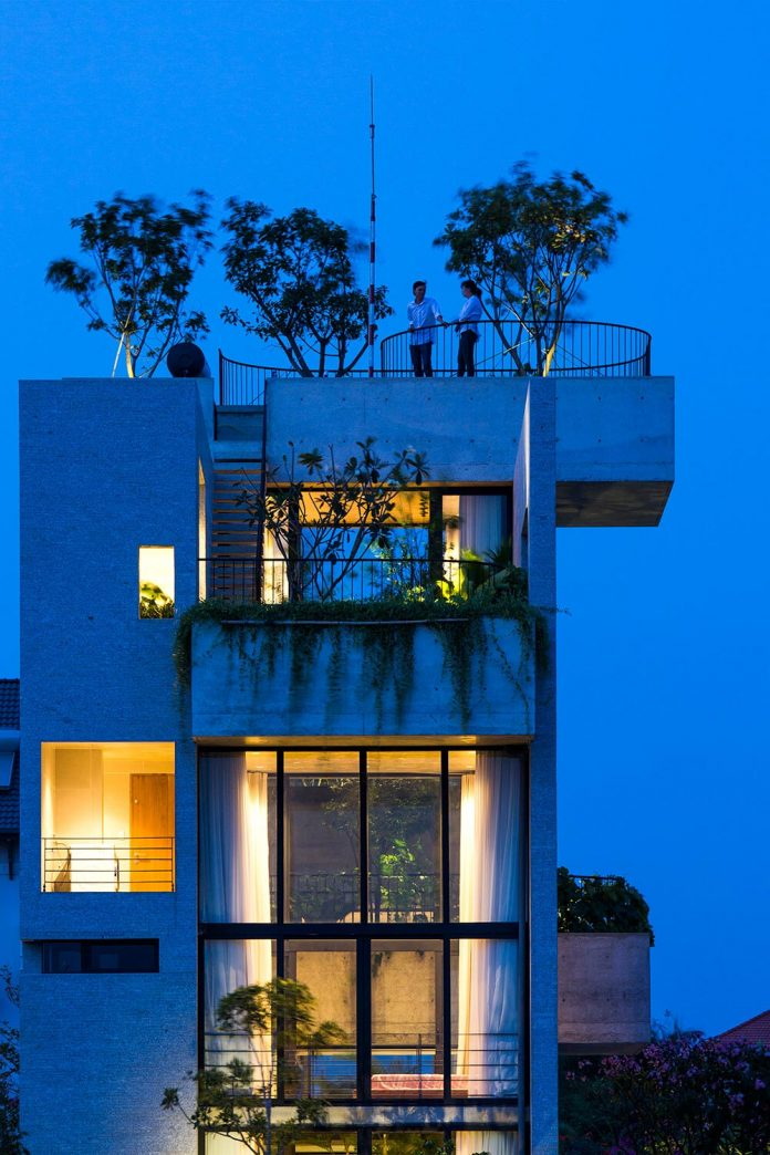 Binh House By Vo Trong Nghia Architects An Exposed