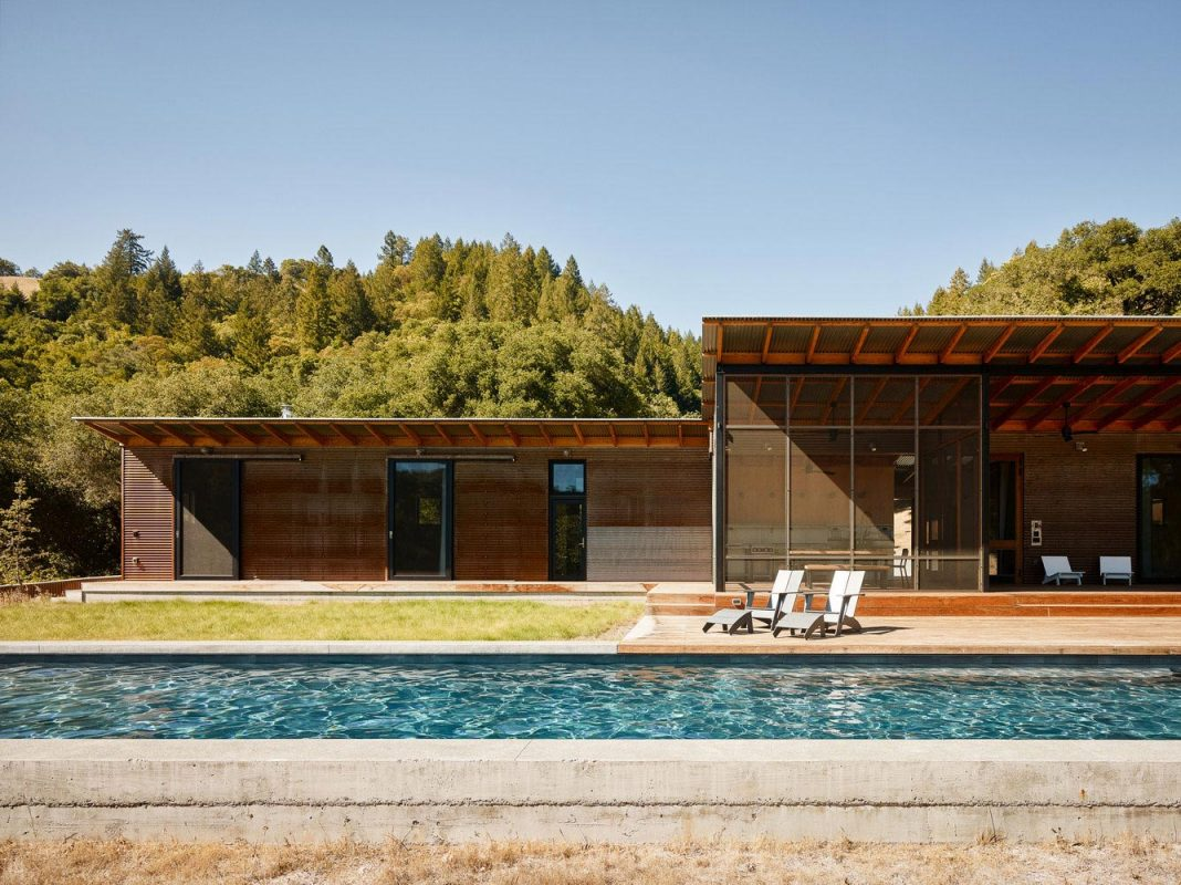 Camp Baird home that sits on a stunning 165-wooded acre property in a valley
