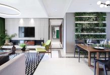C&C Design Group designed a stylish modern apartment where plants of all kind all are highly present