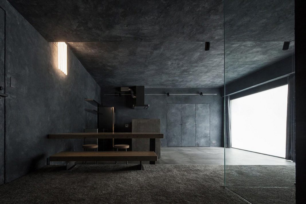 Concrete apartment designed by Hiroyuki Ogawa Architects in Tokyo