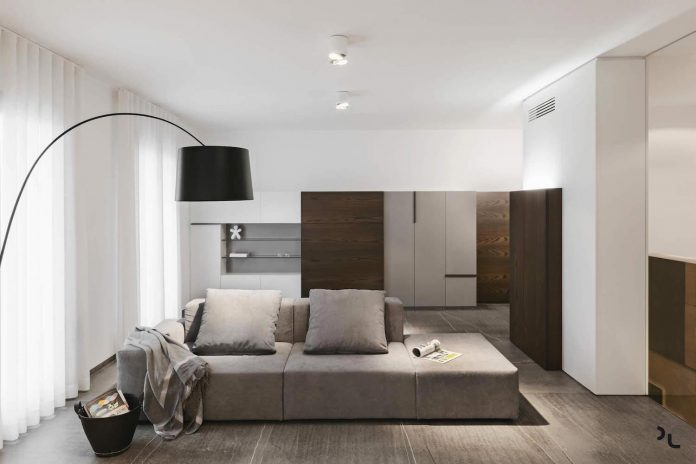 ep minimalist apartment designed by manca studio in shades of gray and