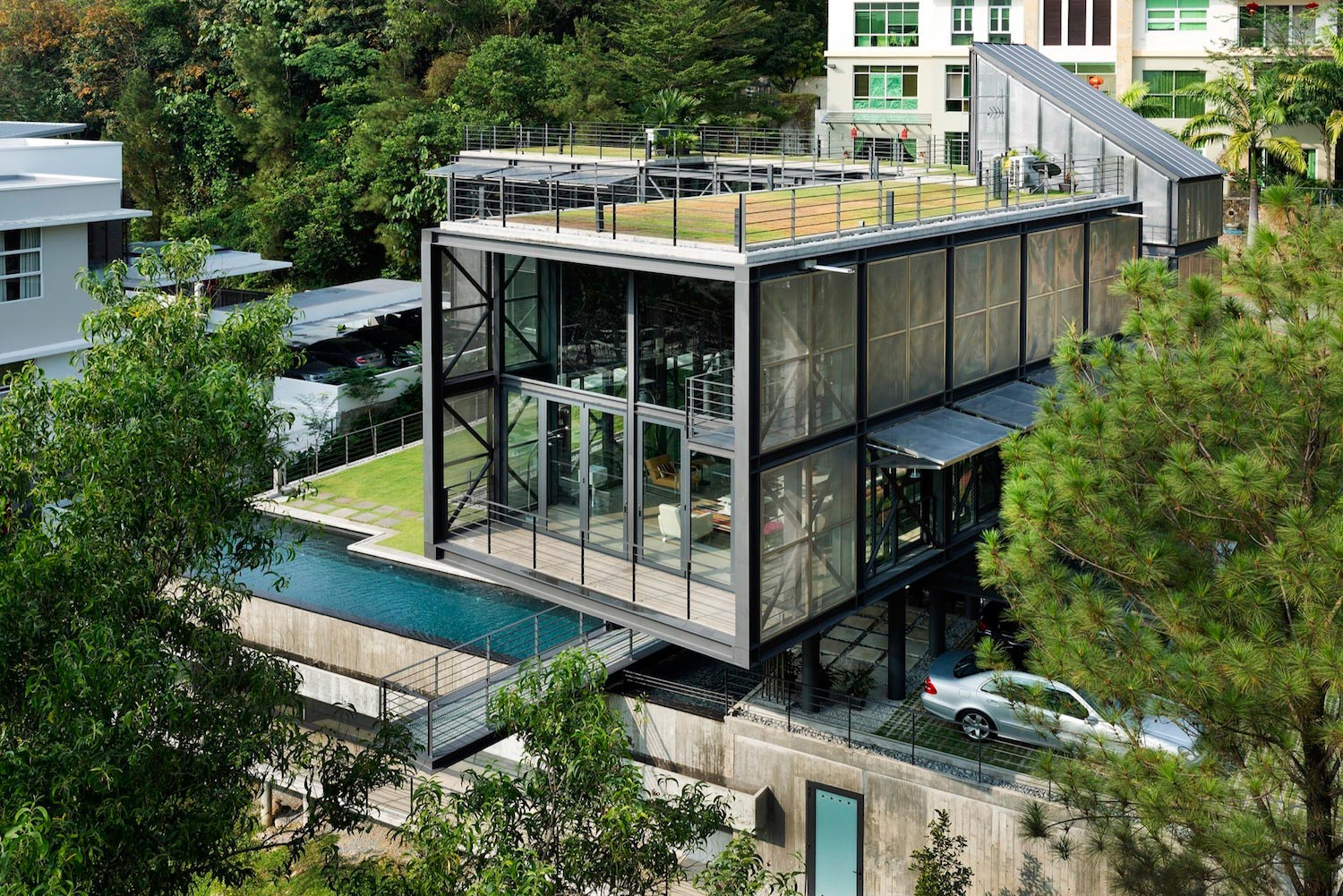 exposed structural steel house designed float site offering rh caandesign com steel house design philippines steel house gate design