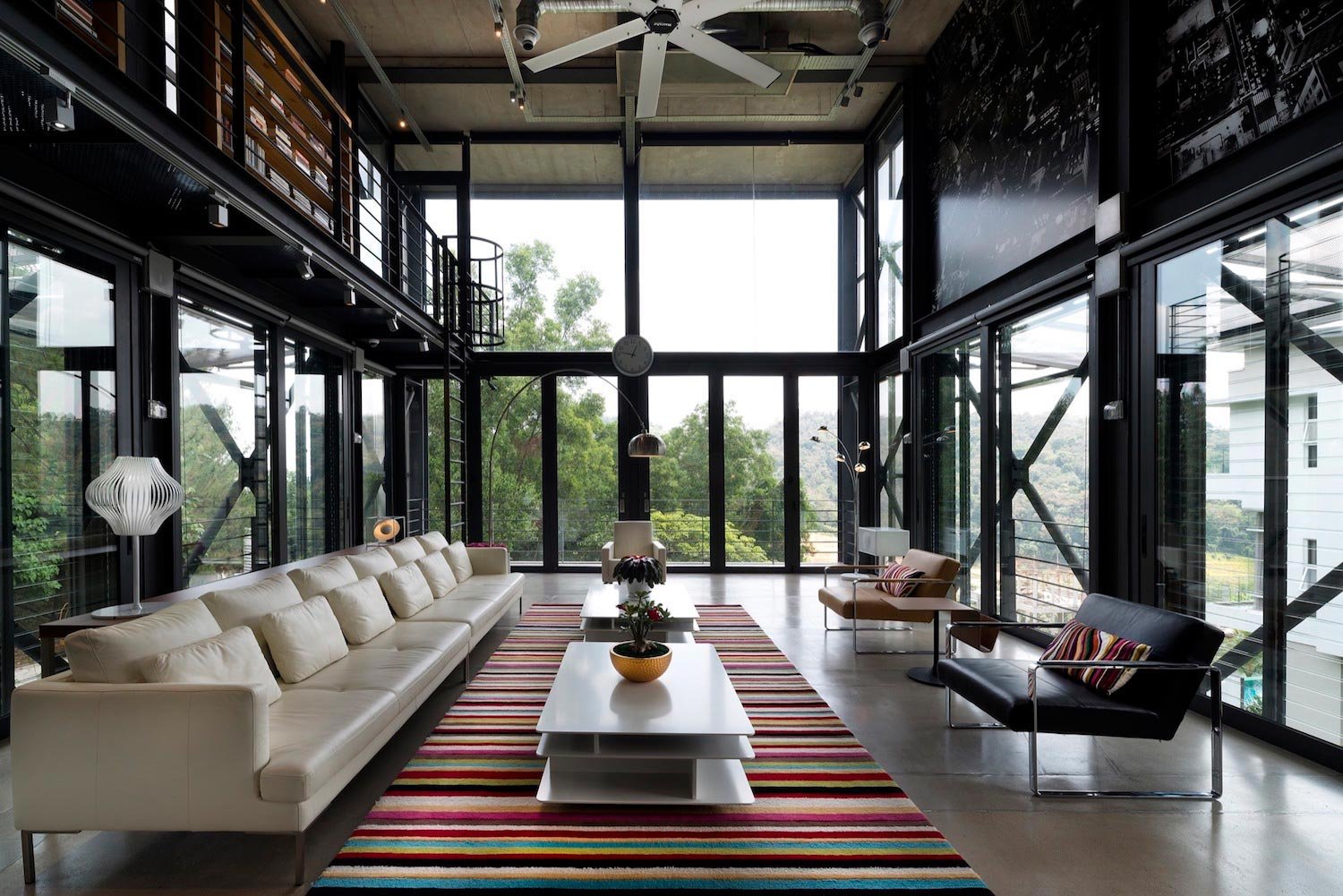 Exposed Structural Steel House Designed Float Site