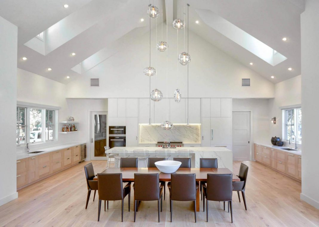 Modern light-filled farmhouse interior designed by Christine Curry Design