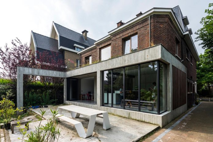 Outdated house adapted to contemporary living standards in Belgium