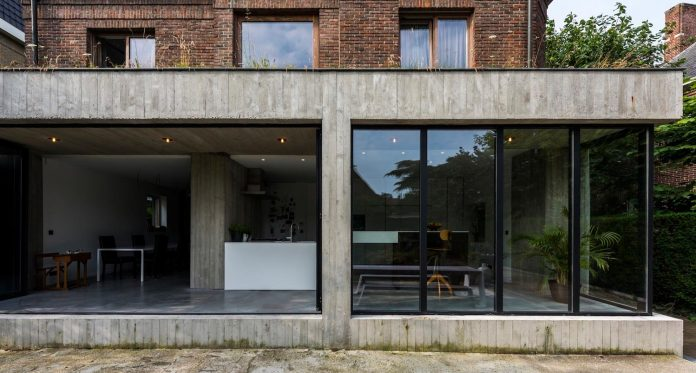 Outdated House Adapted To Contemporary Living Standards In
