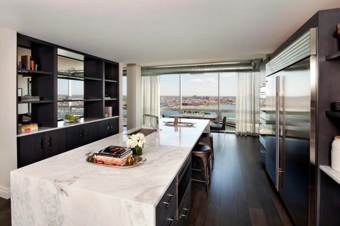 Penthouse with floor to ceiling windows on both floors and - What are floor to ceiling windows called ...