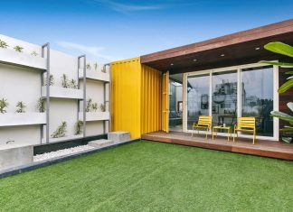 Shipping container home that gives a unique and unusual look