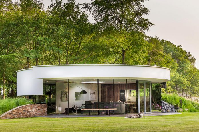 Tiny modern circular villa in a Dutch forest by 123DV - CAANdesign  Architecture and home ...