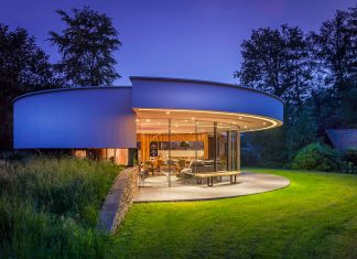 Tiny modern circular villa in a Dutch forest by 123DV