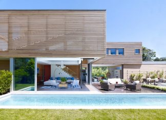 Austin Patterson Disston Architects designed an Hamptons passive residence covered up in wood