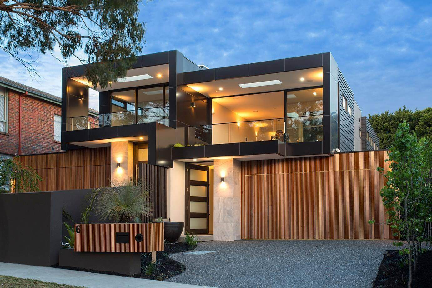 Modern Houses Interior And Exterior Bold square sha...