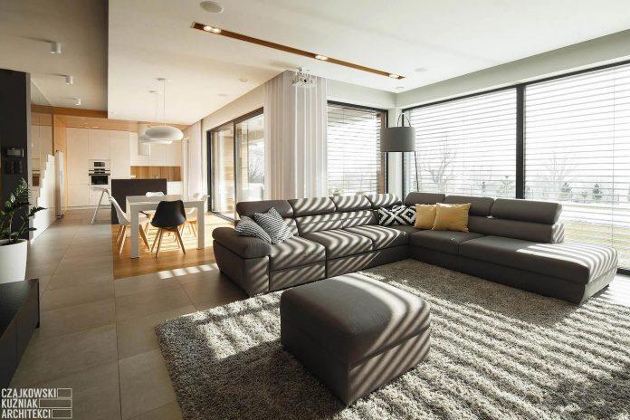 Czajkowski Kuźniak Architekci design a bright contemporary and inspiring single family house in Mysłowice, Poland