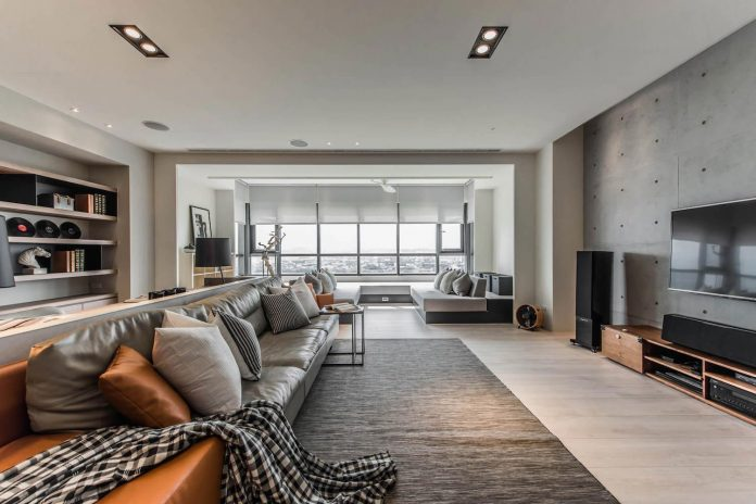 CAC Design Group and Guan Pin design a contemporary apartment with a large luminous living room