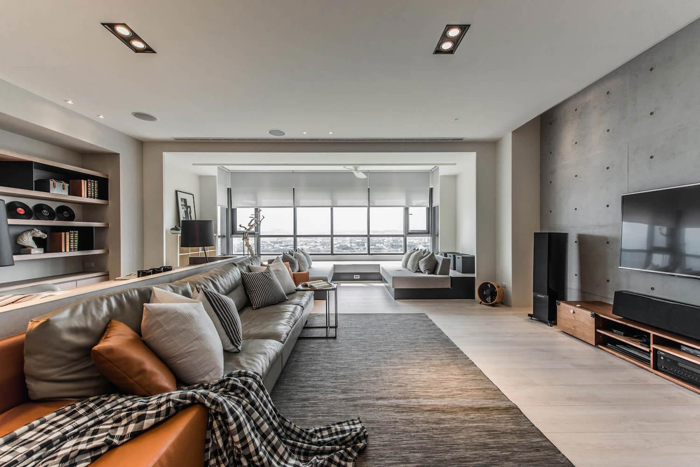 Cac design group and guan pin design a contemporary - Modern apartment interior design ...