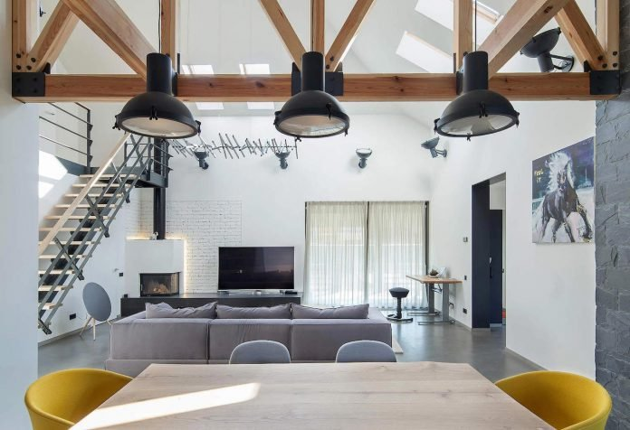 Contemporary Home Design In Kiev By Tseh Architectural Group Has A High Ceiling Living Room And Inspiring An Interior Design Caandesign Architecture And Home Design Blog