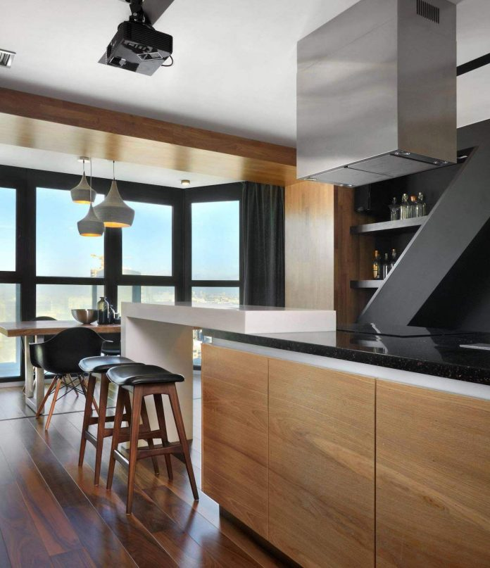 Designed for a young couple, this modern interior design offers ...