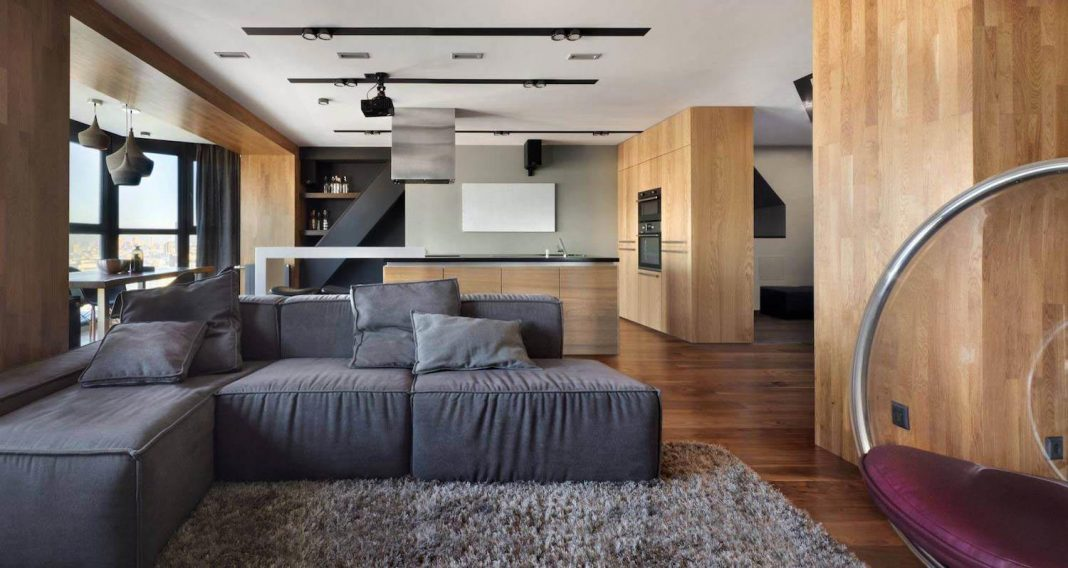 Designed For A Young Couple This Modern Interior Design Offers Panoramic Views Over Yekaterinburg