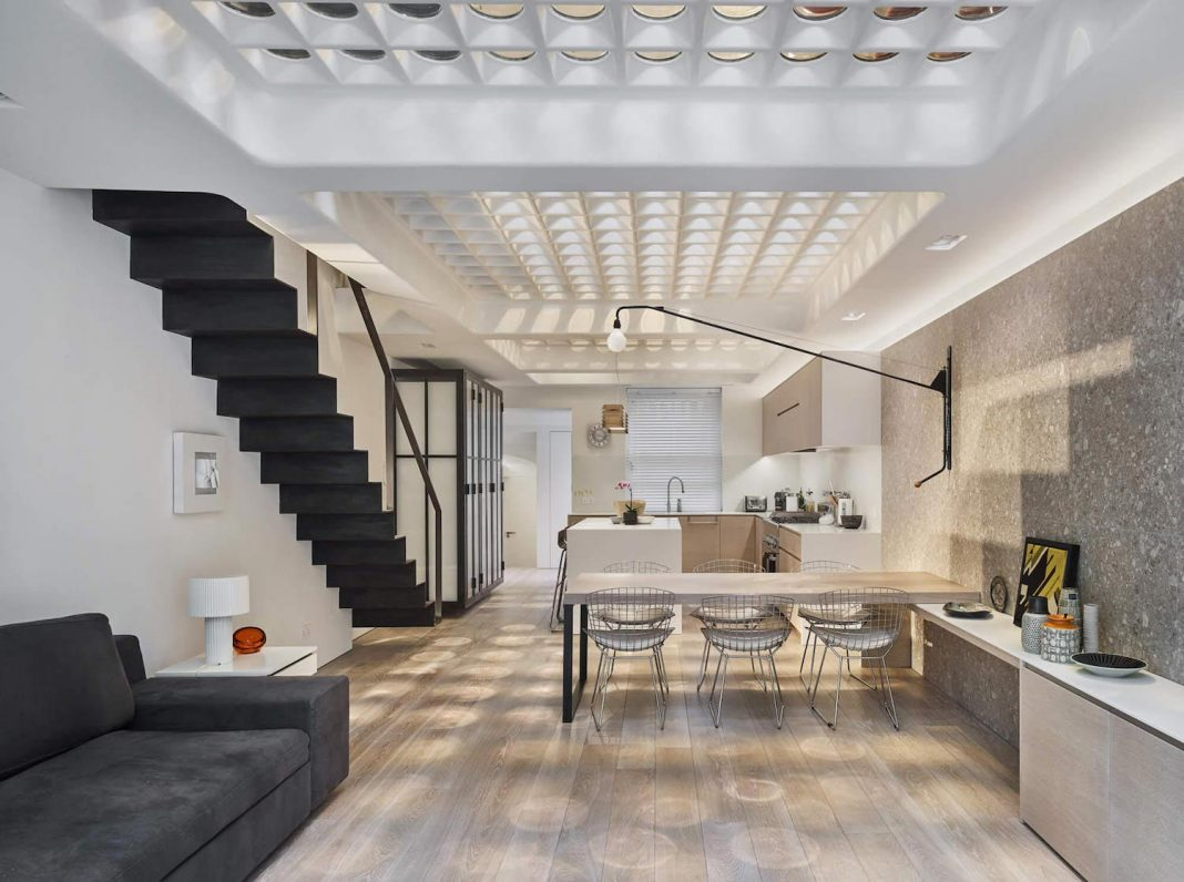 The Perf House designed to bring some light and openness to a 5-storey Georgian terrace house in Pimlico, London