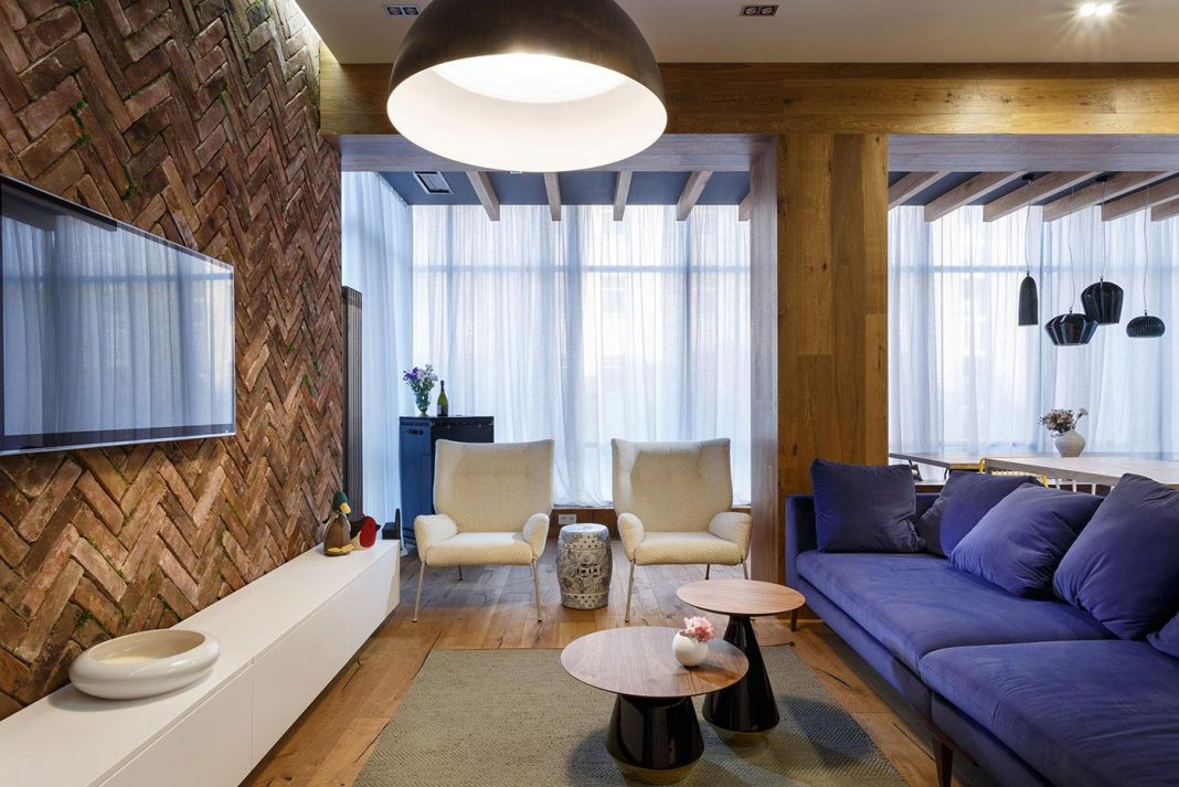 Inspiring apartment interior designed to enjoy life and stimulate creativity for a young family