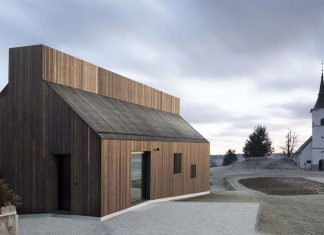 Oiled larch boards define the exterior relating to the traditional finish of the Chimney vernacular barn