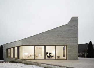 Striking residence designed of insulating concrete results in an atmospherically dense place of dwelling