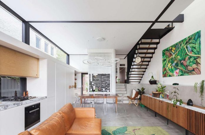 Traditional childlike idea of a gable roofed house is converted into ...