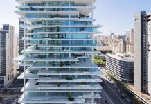 Beirut Terraces by Herzog & de Meuron: a modern multilayered 119-metre tall building with many terraces and overhangs