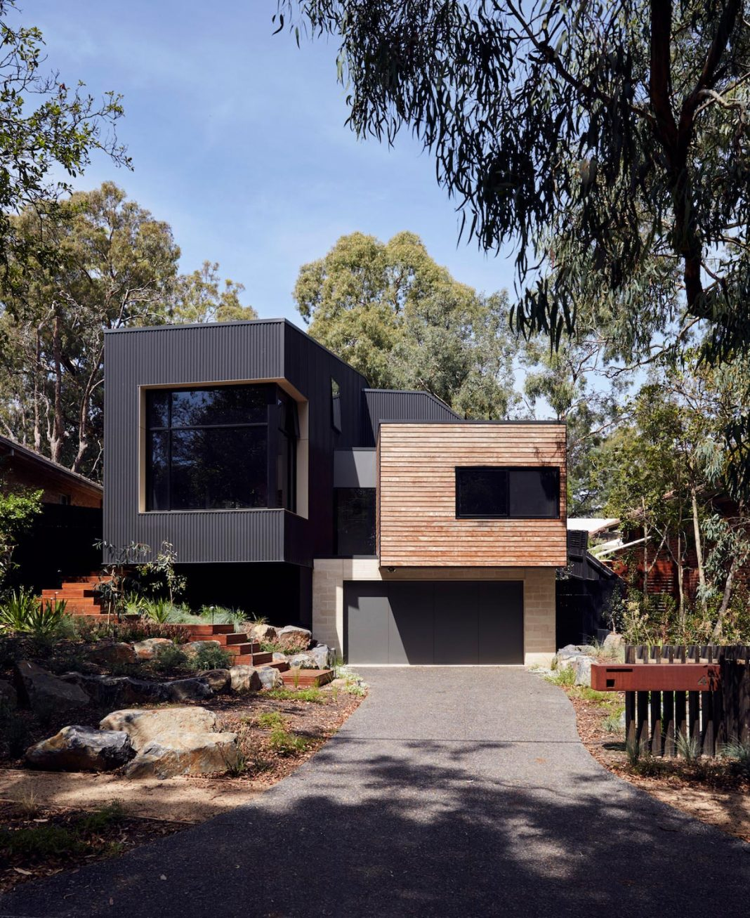 Blackburn modular family home nestled amongst the gums and for Blackburn home